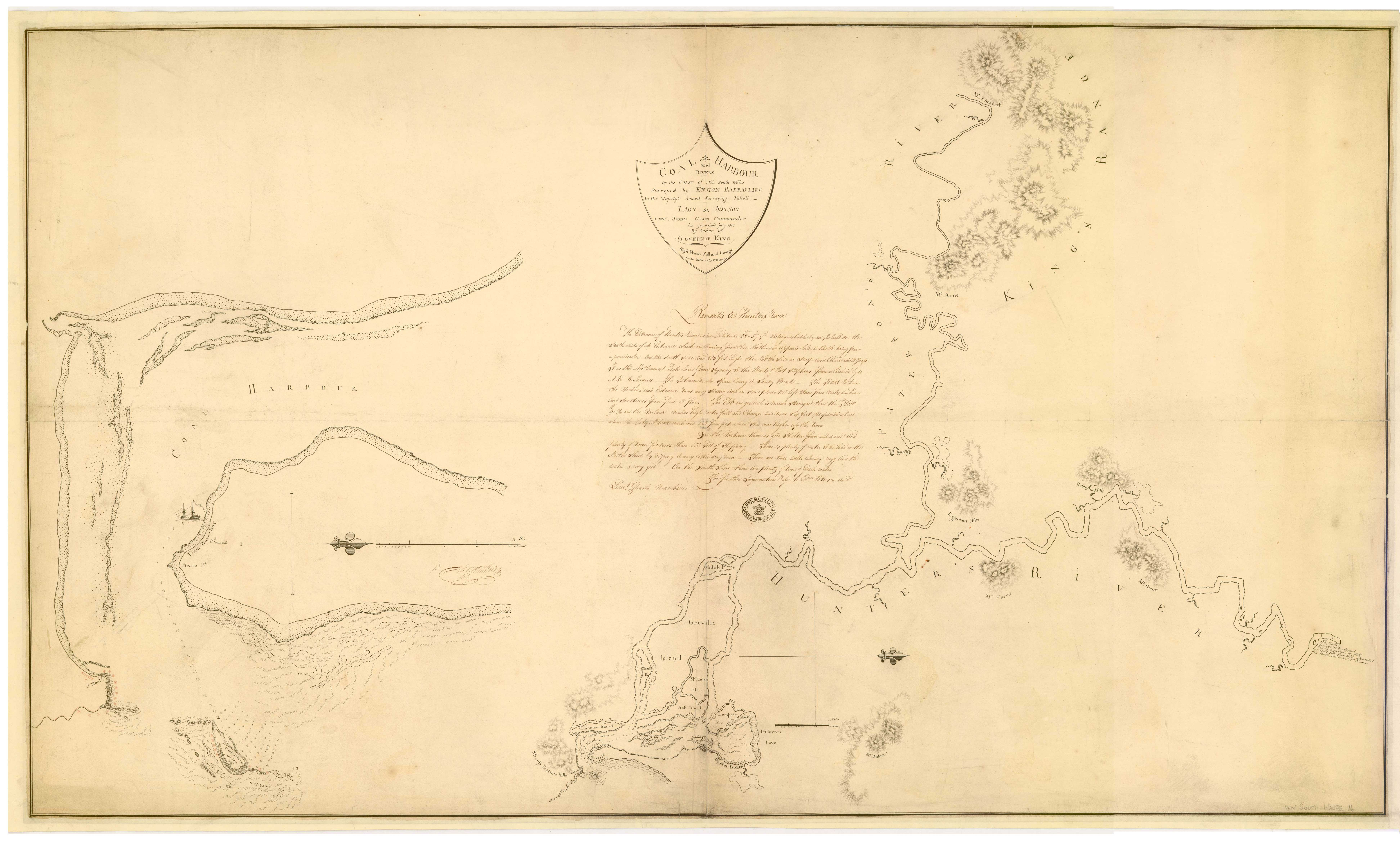 Francis Barrallier - Coal Harbour and Rivers ..1801 (Courtesy of National Archives of the UK)