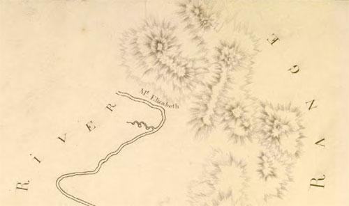 Mt Elizabeth on Barrallier's 1801 plan