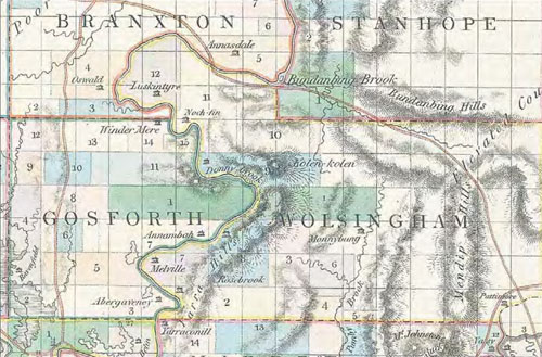 Kolen kolen from Dangar's 1828 map