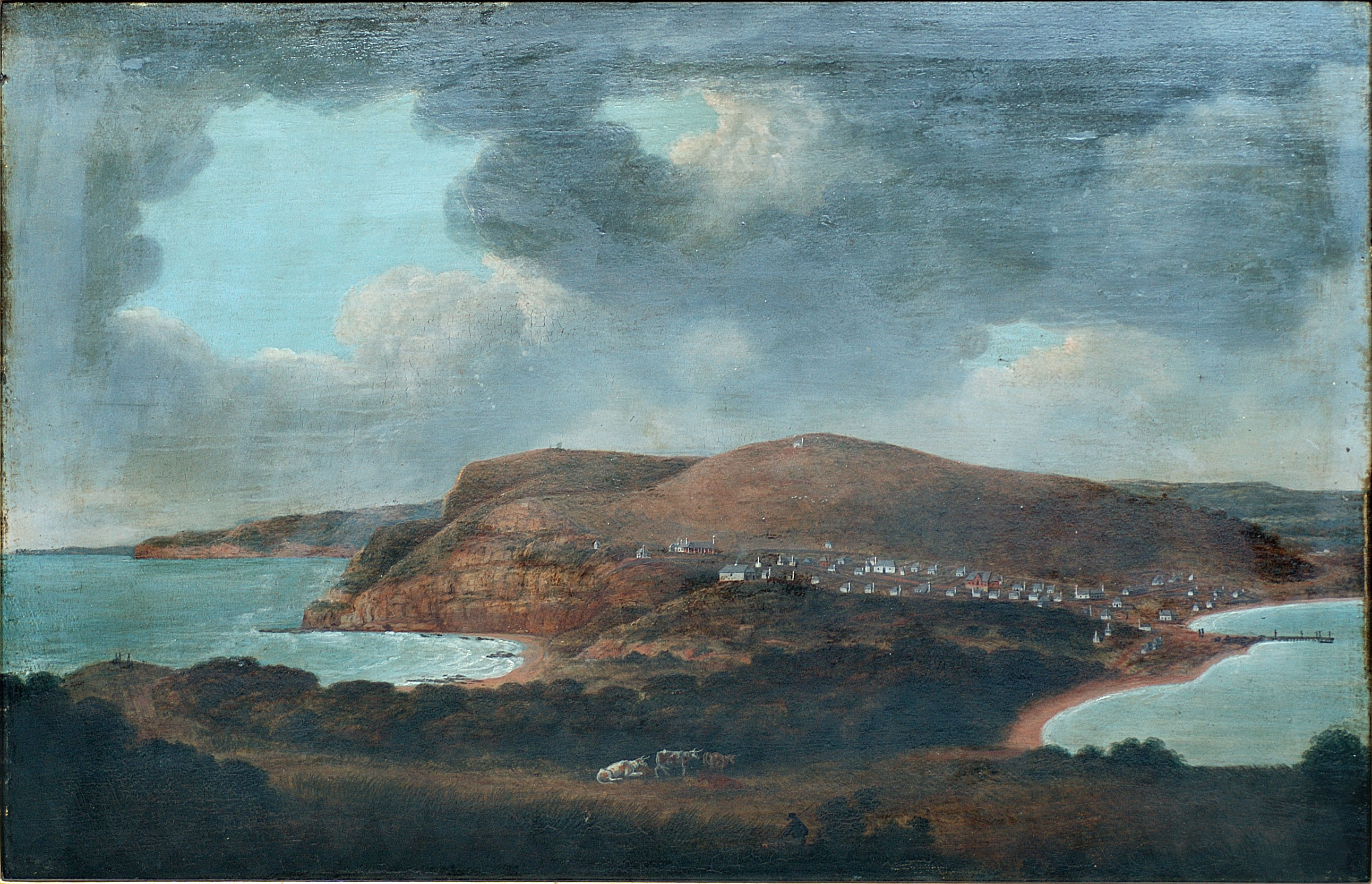 Lycett - Newcastle, New South Wales, looking towards Prospect Hill. (1816?) (Courtesy Newcastle Region Art Gallery)