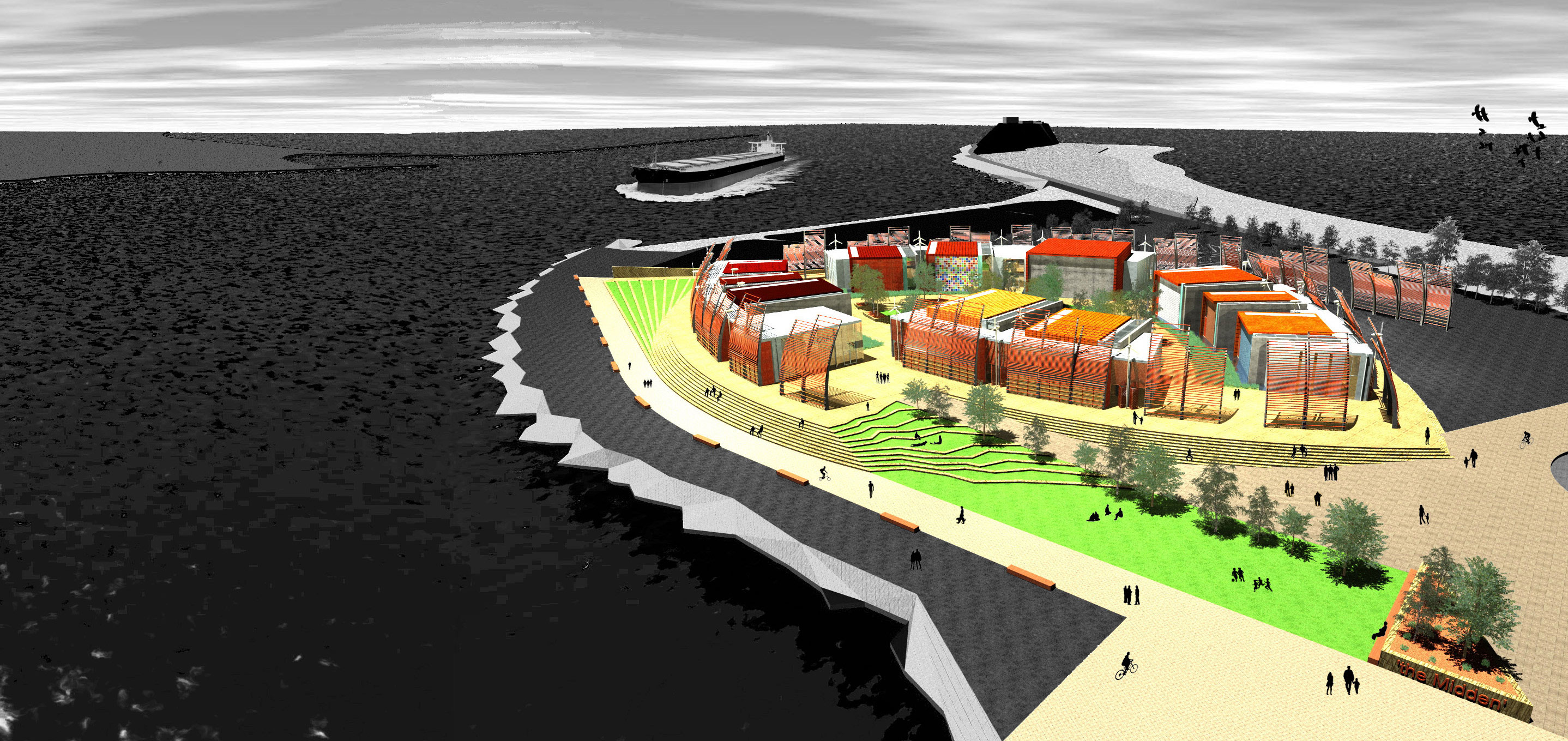 'The Midden' - Concept Design for Coal River Interpretative Centre by Andrew Cavill