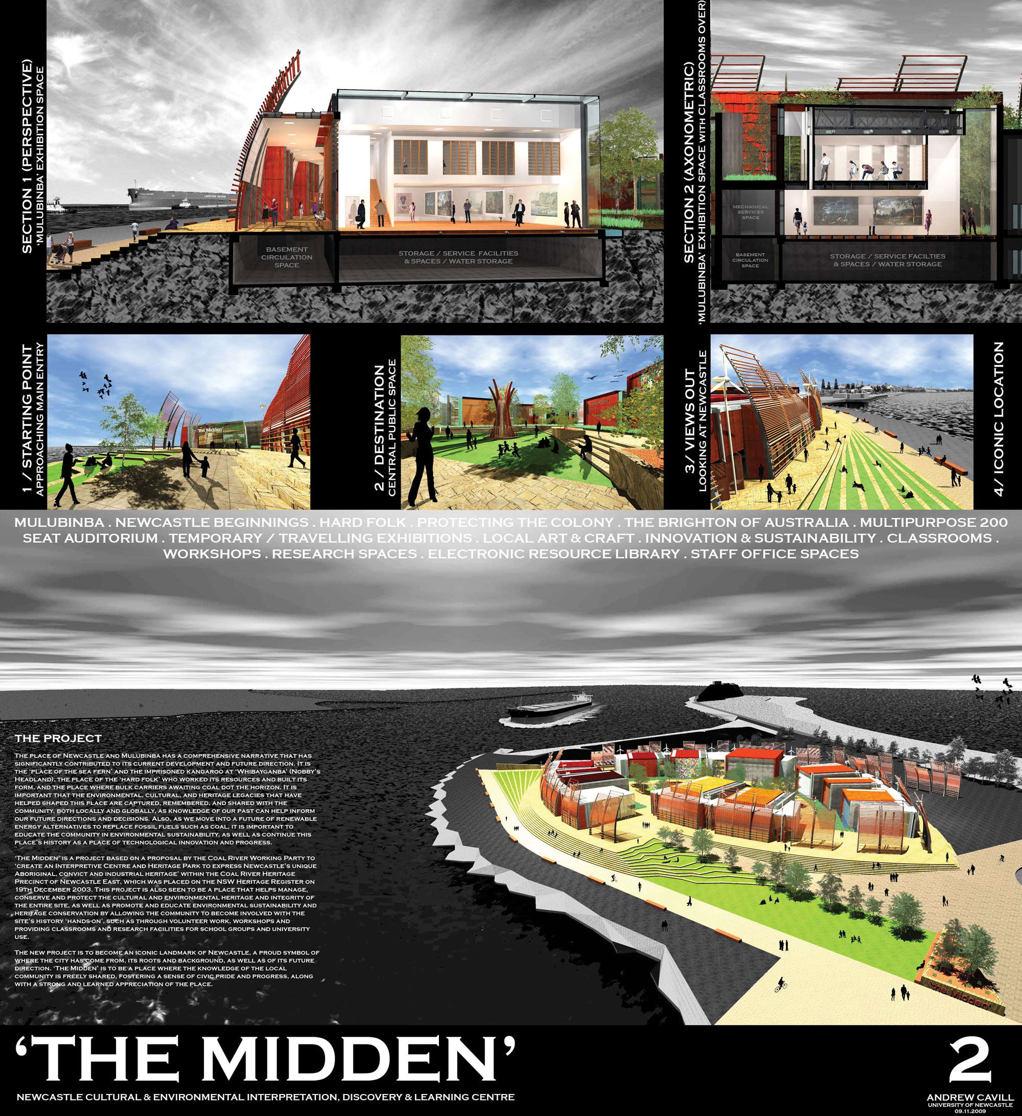 Exhibition Panel No. 2 for 'The Midden' by Andrew Cavill