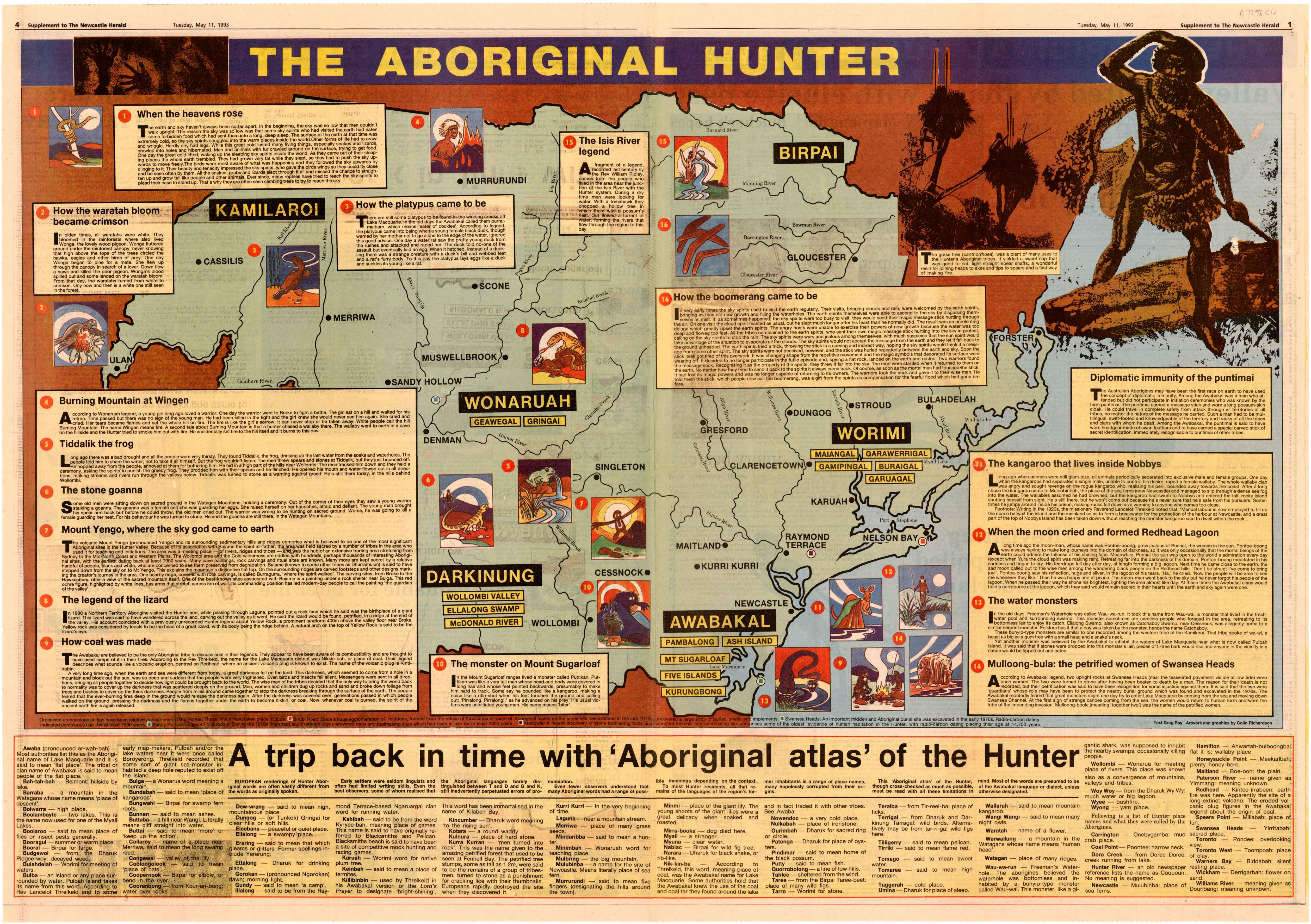 Digital Version of The Aboriginal Hunter (1993) Recto