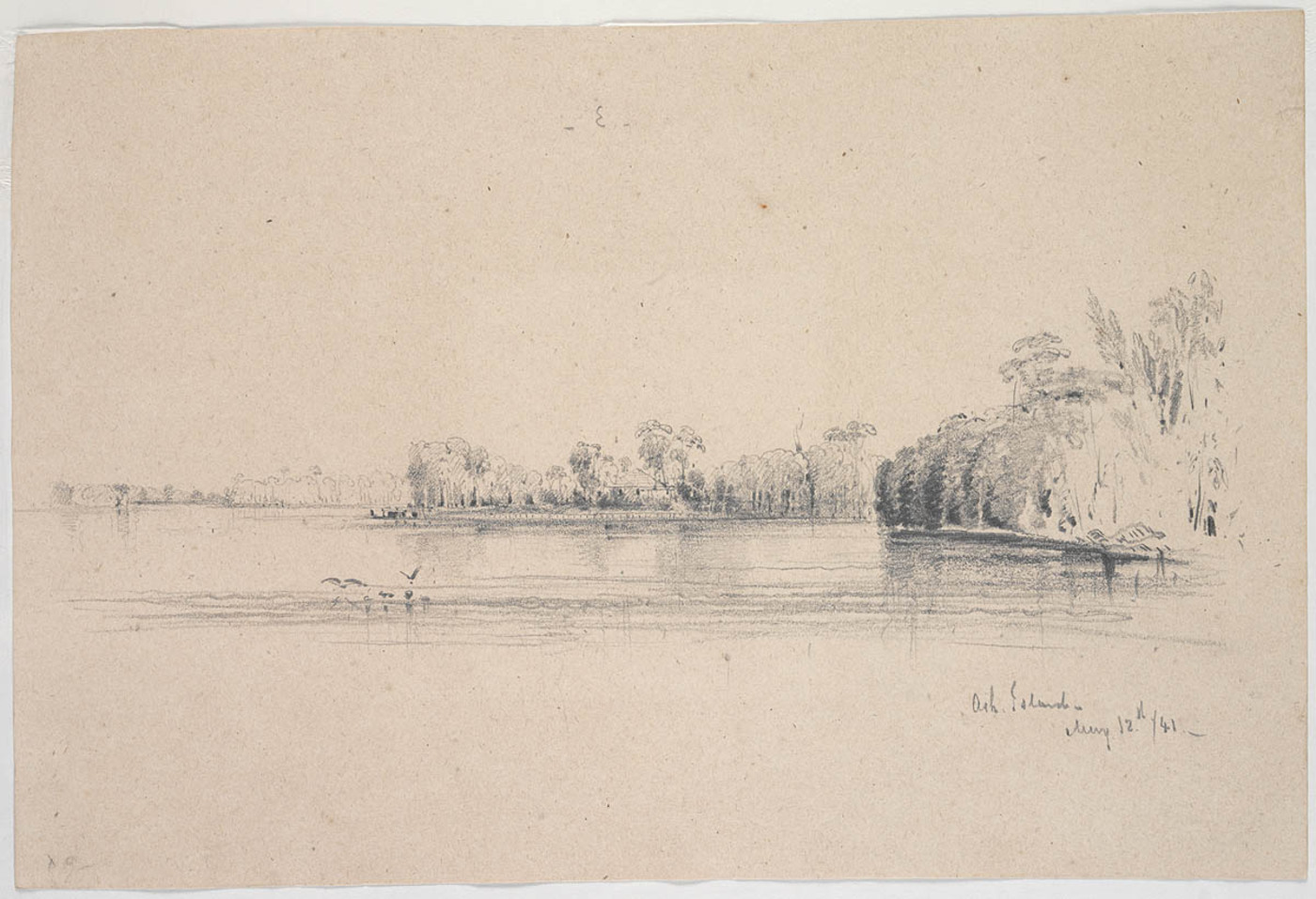 i. [flyleaf] Ash Island 12th May 1841 by Conrad Martens (Courtesy of the State Library of NSW)