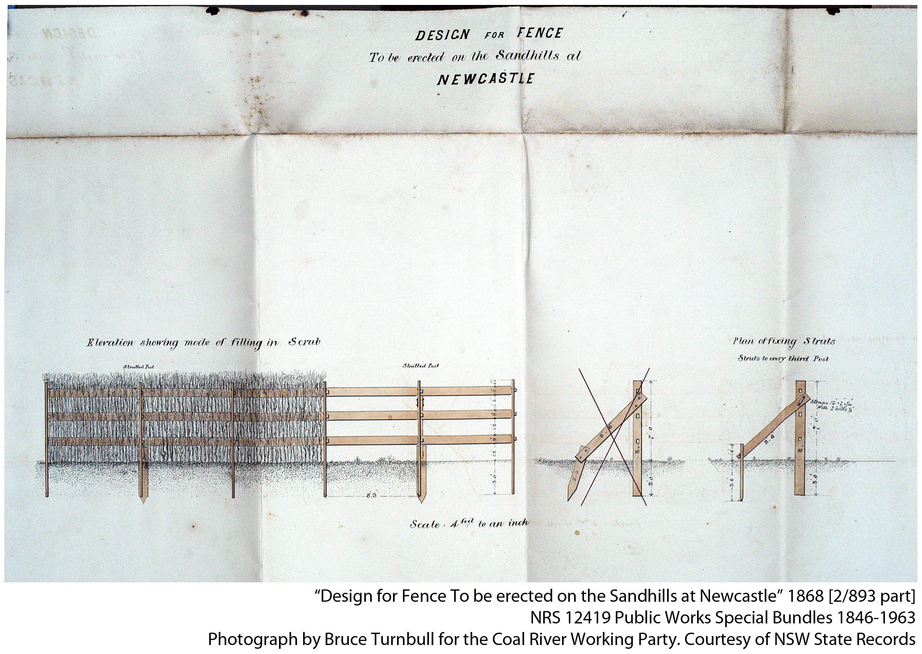 Fence to be erected at the Sandhills, Newcastle 1868