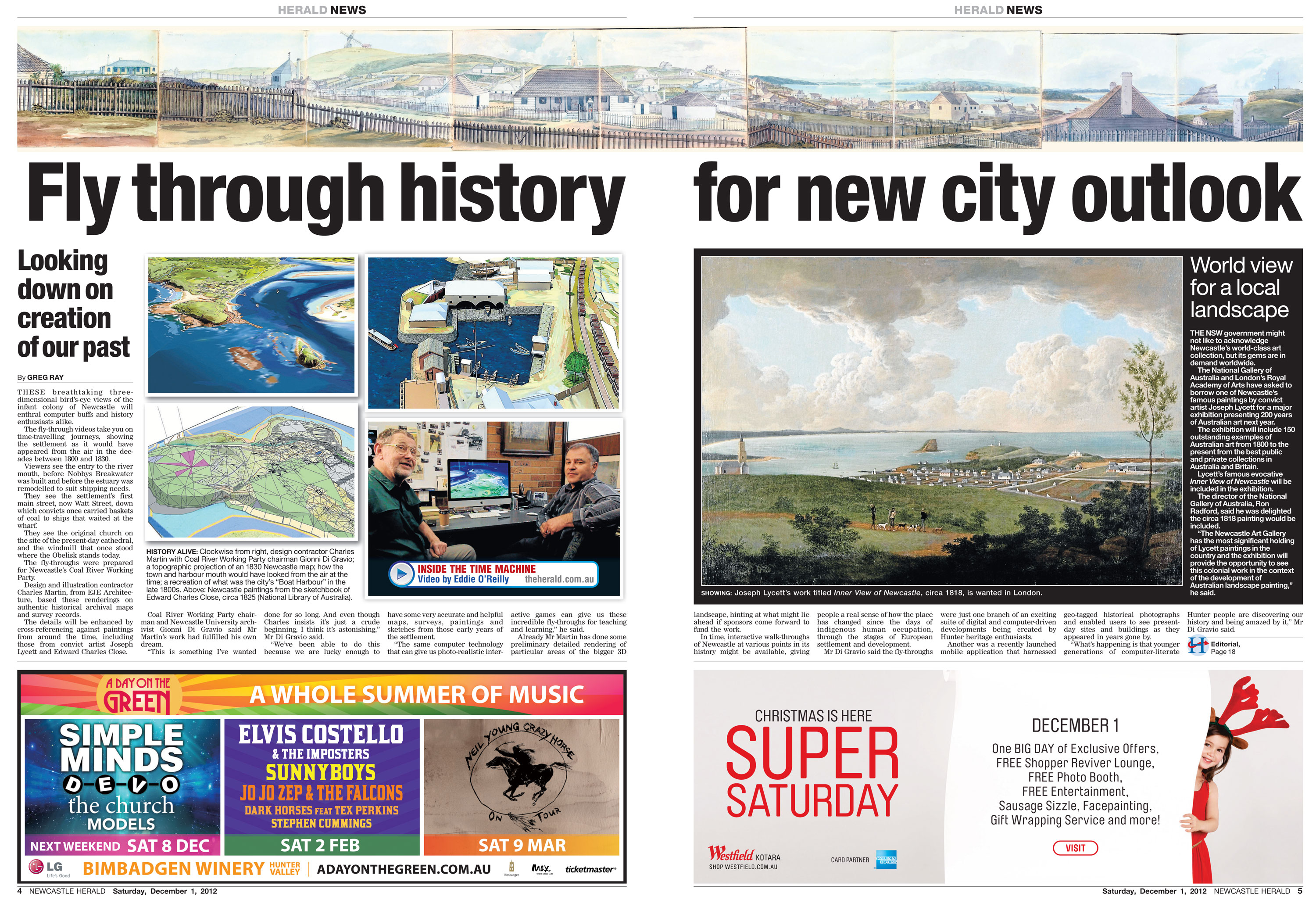 'Fly through history for new city outlook' - Newcastle Herald p.4-5