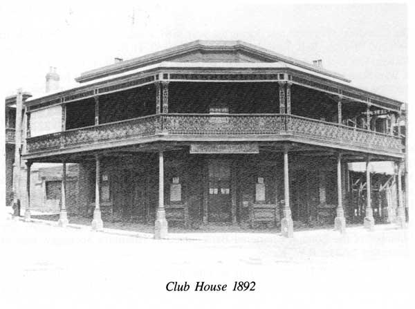 Newcastle Club in 1892 on corner of Watt and King Streets Newcastle
