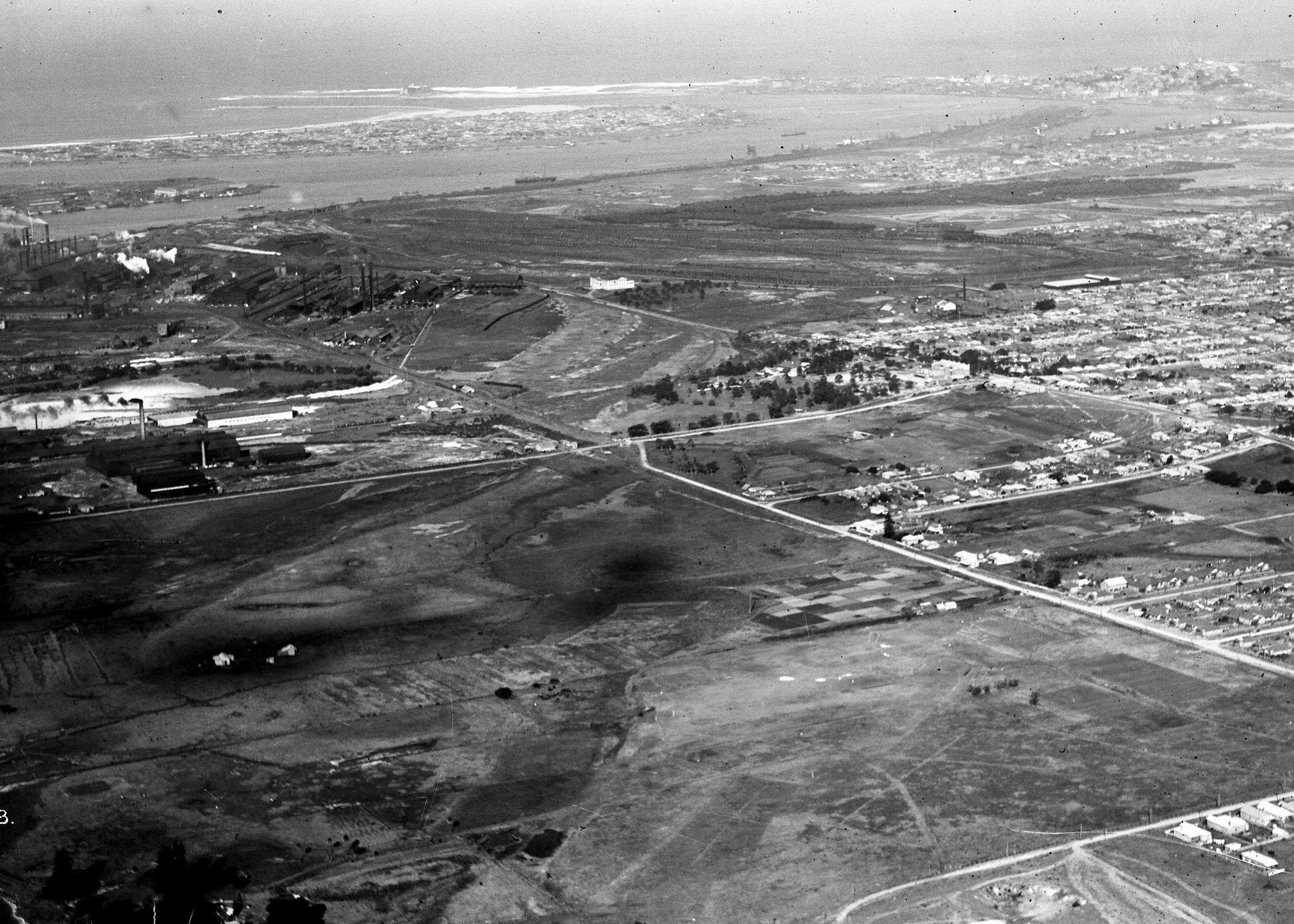 Newcastle aerial, 1930 (Image 58 Courtesy of Phillip Warren)
