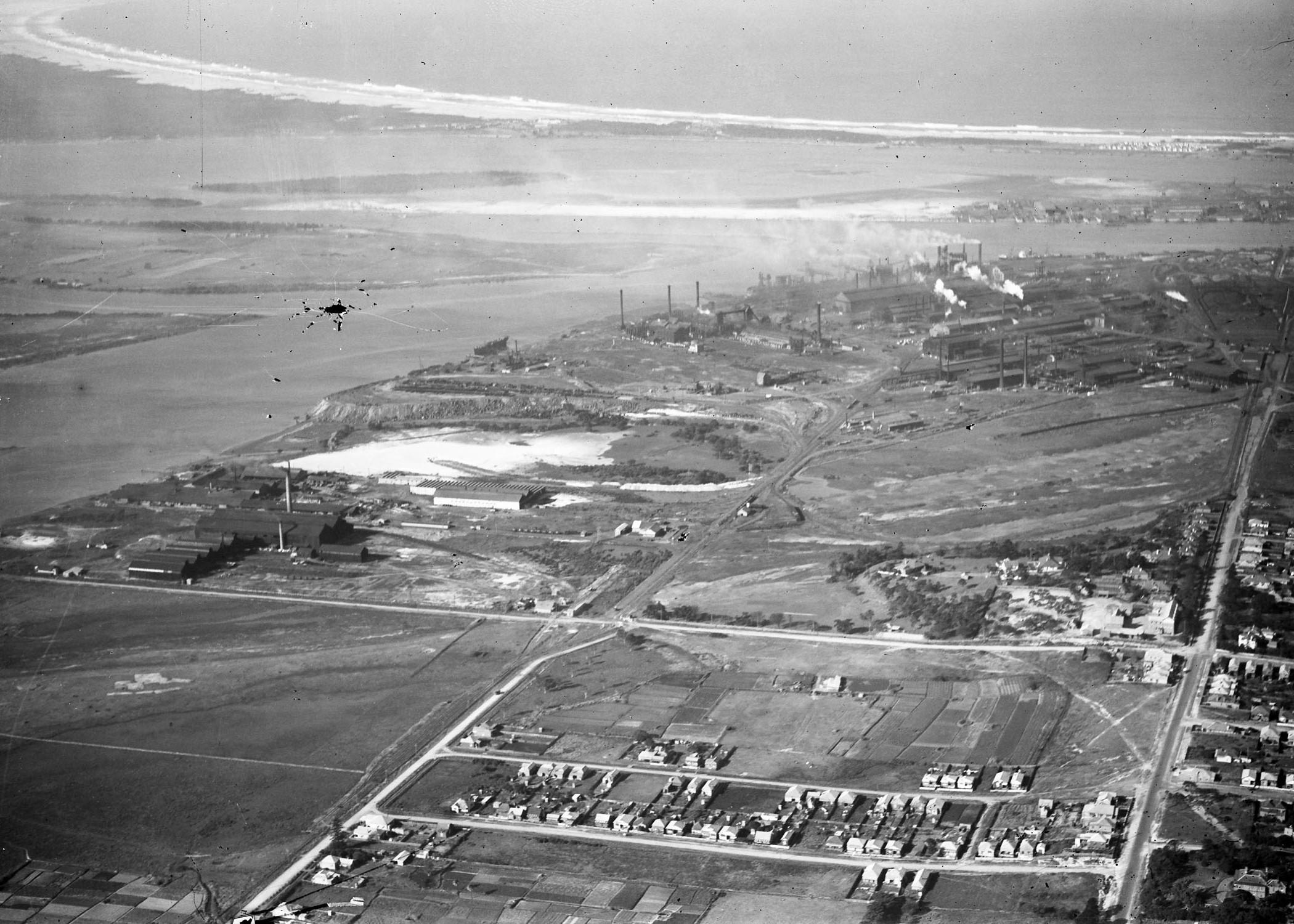 Newcastle aerial, 1930 (Image 59 Courtesy of Phillip Warren)