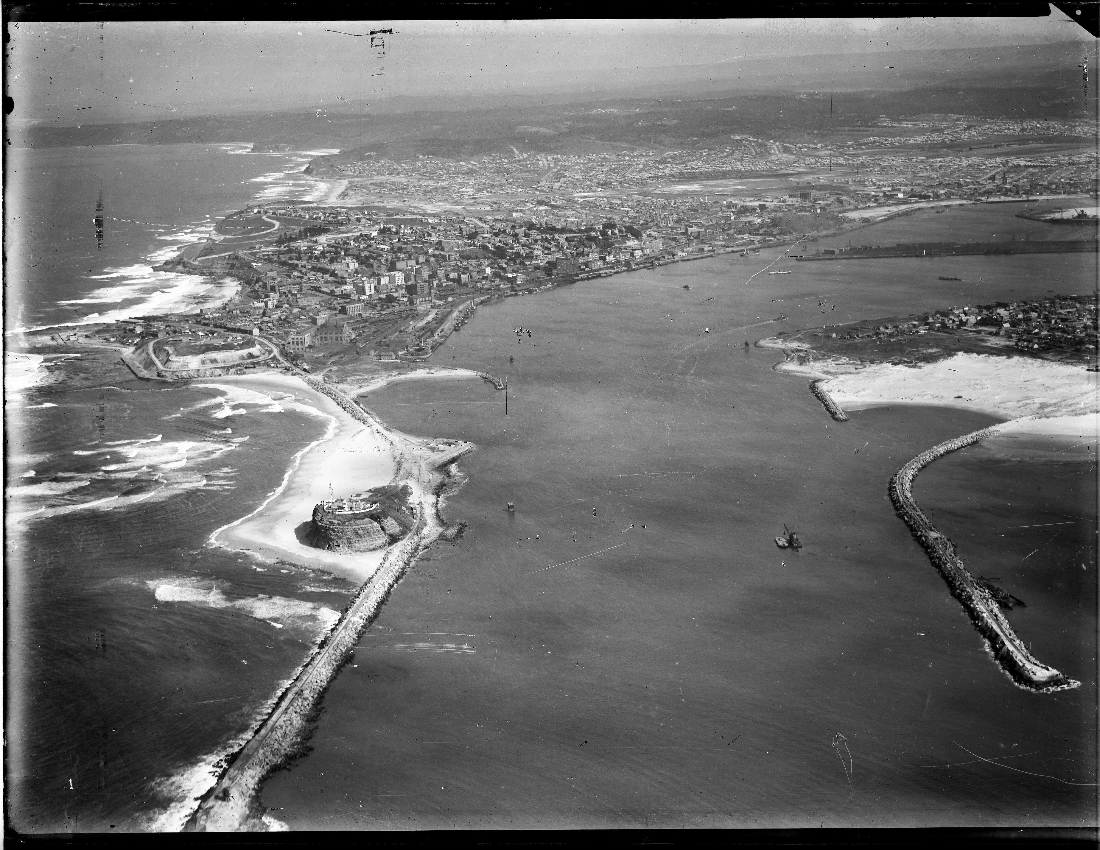 Newcastle aerial, 1934 (Image 61 Courtesy of Phillip Warren)