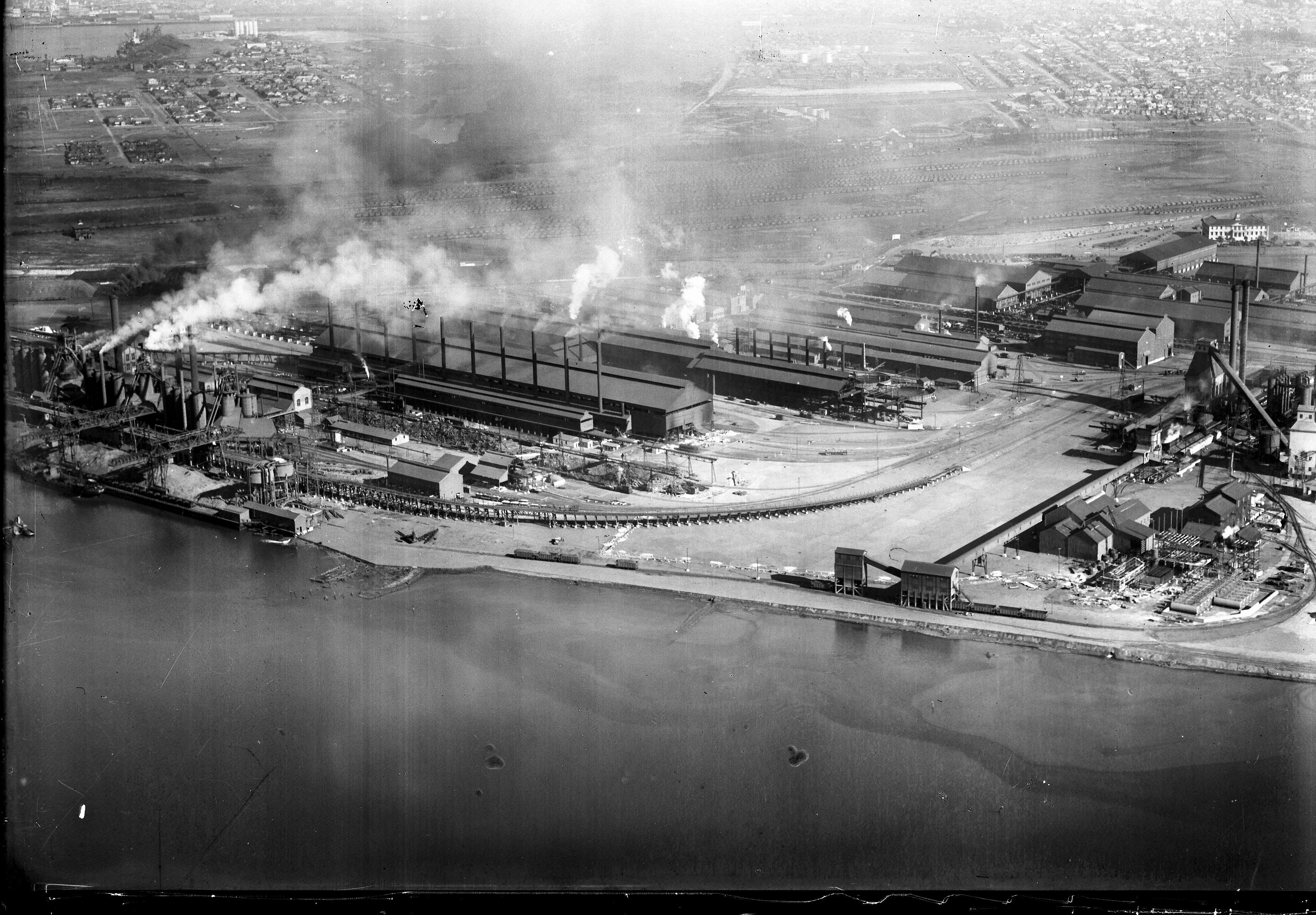 Newcastle aerial, 1935 (Image 62 Courtesy of Phillip Warren)