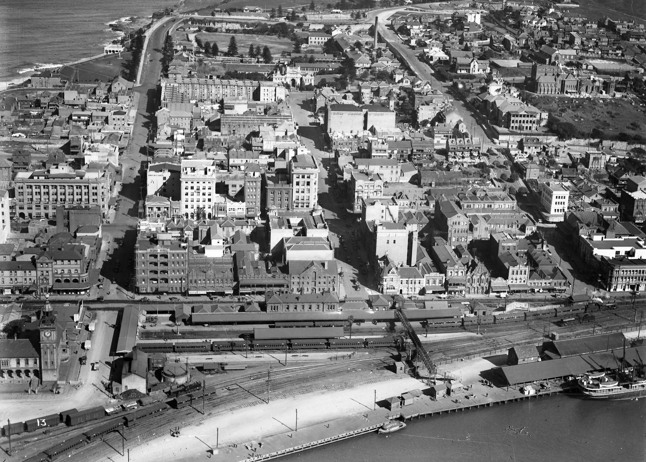 Newcastle aerial, 1935 (Image 67 Courtesy of Phillip Warren)