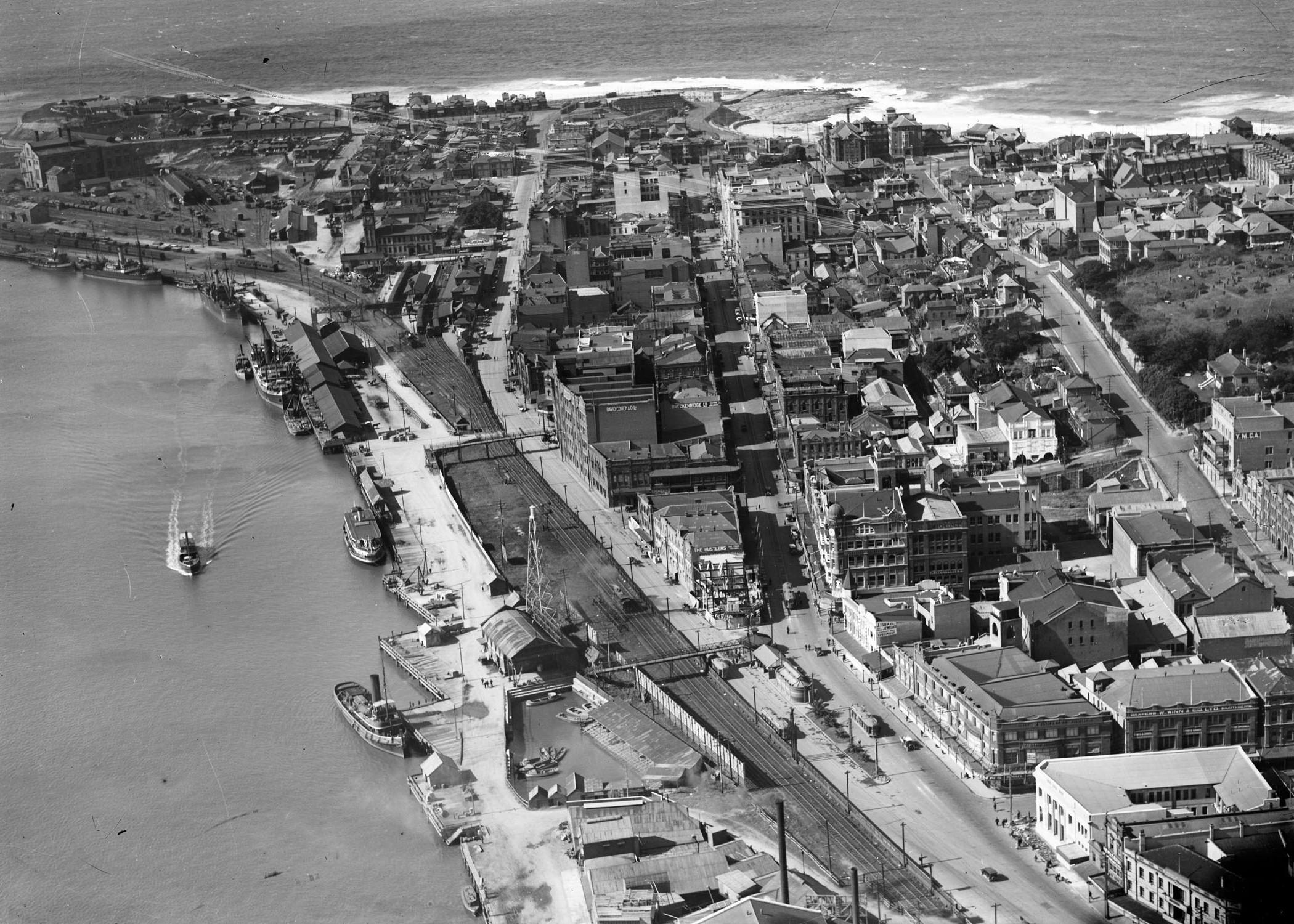Newcastle aerial, 1935 (Image 68/13 Courtesy of Phillip Warren)