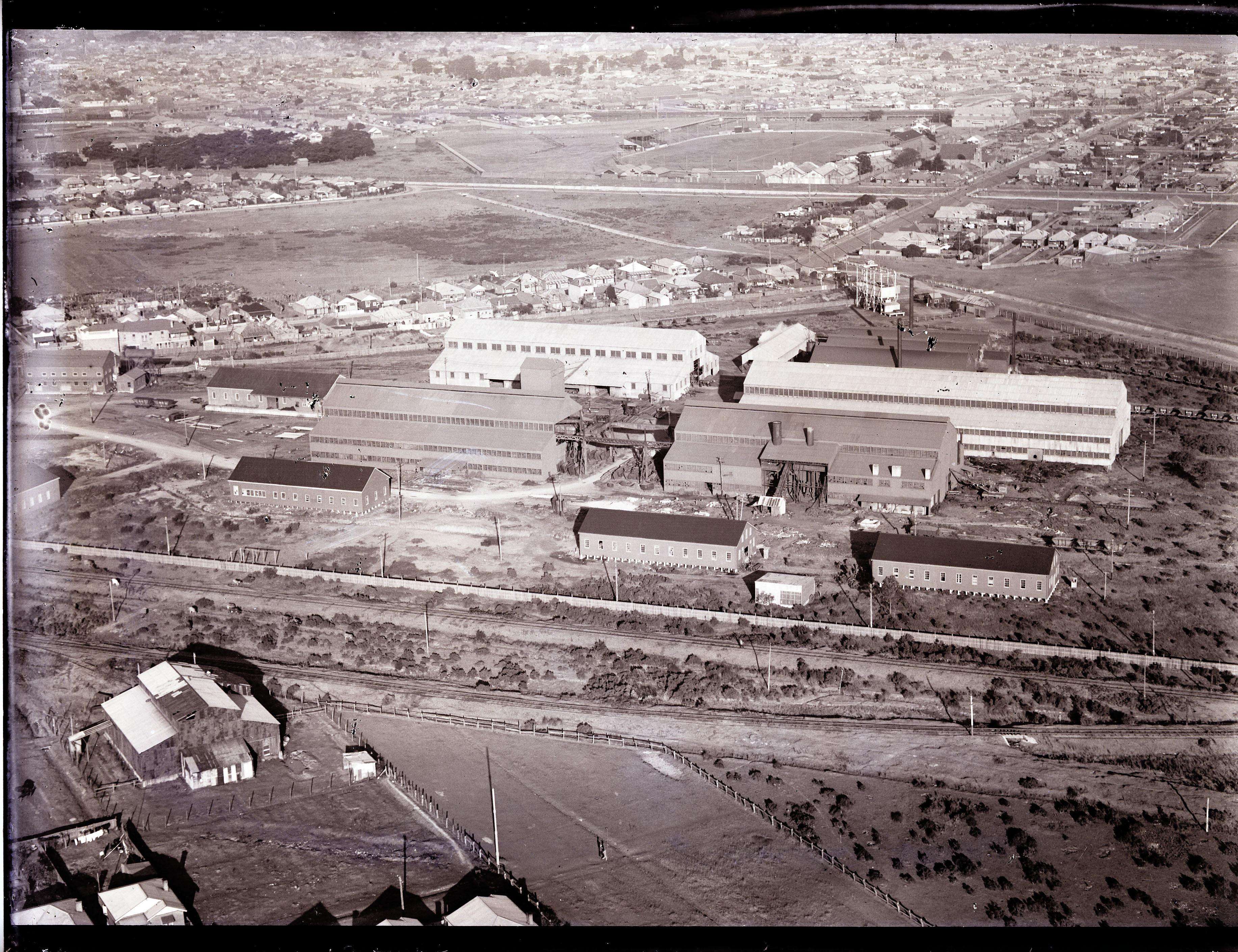 Newcastle aerial, 1935 (Image 71 Courtesy of Phillip Warren)