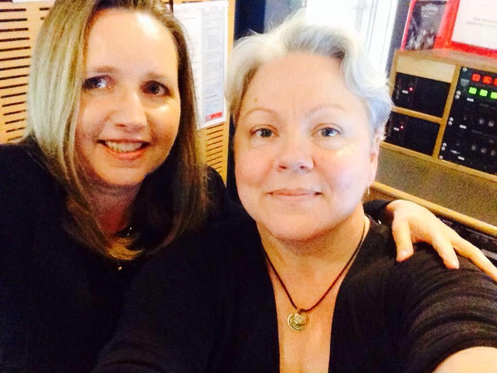 Ann Hardy with Carol Duncan ABC Studios Newcastle