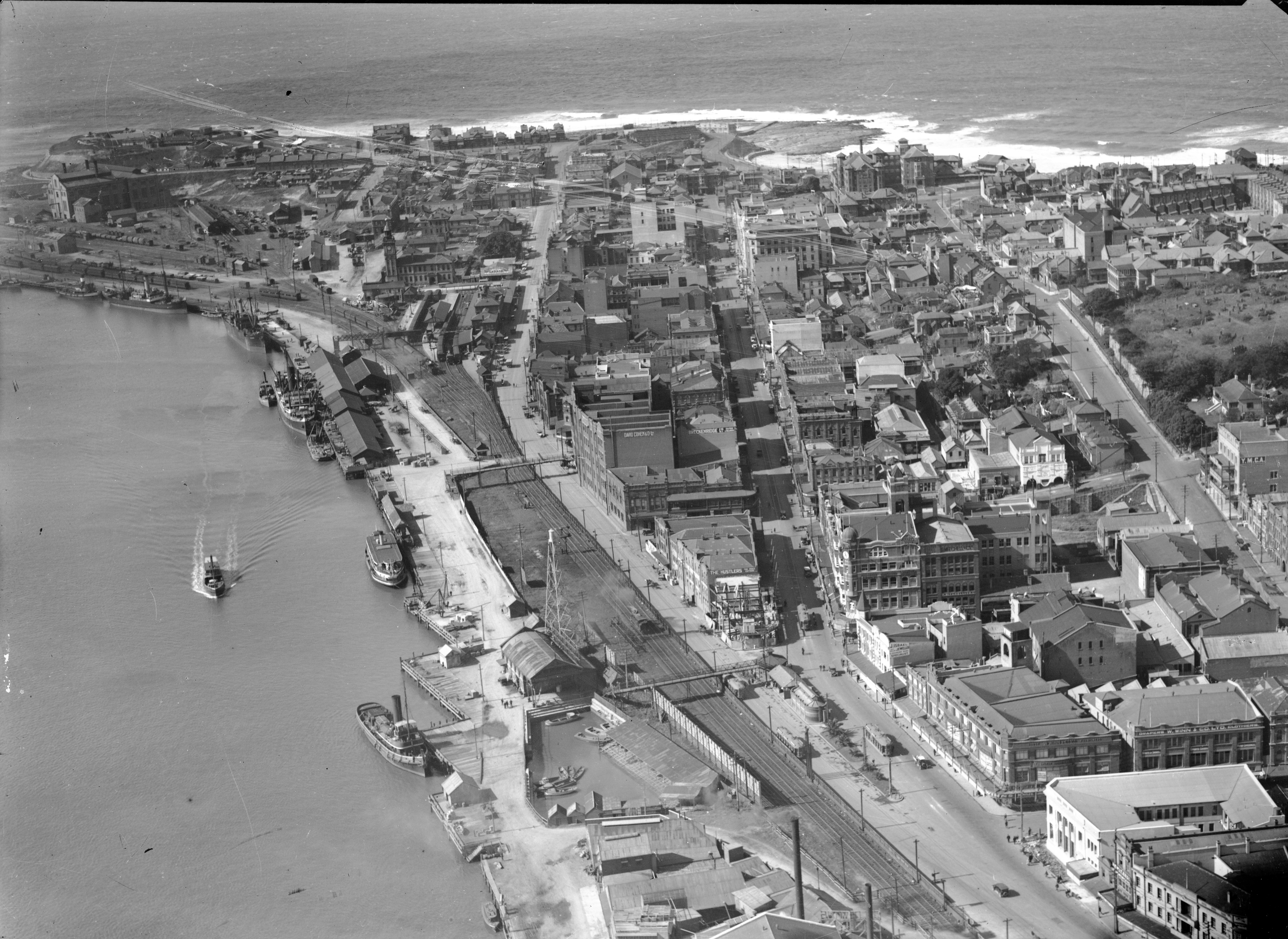 Aerial Image of Newcastle taken around 1928.