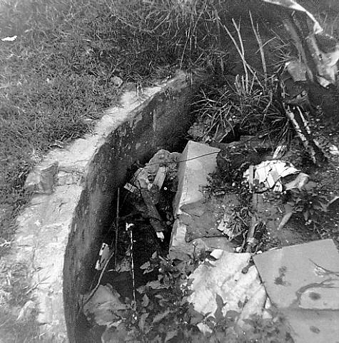 1970? - AW Scott Home - Wall of Well (Courtesy of Hunter Photobank)
