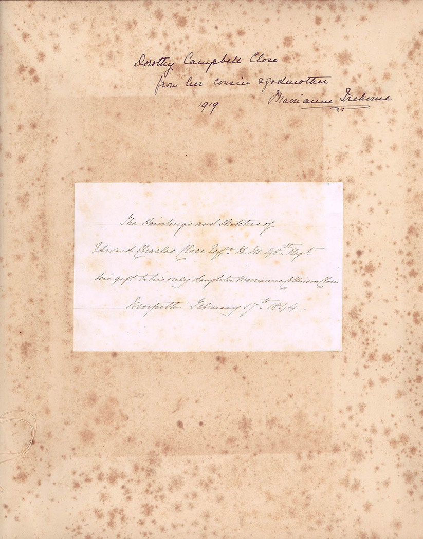 The Drawings of Edward Charles Close Esqre H.M. 48th Reg.t (Courtesy of State Library of NSW)