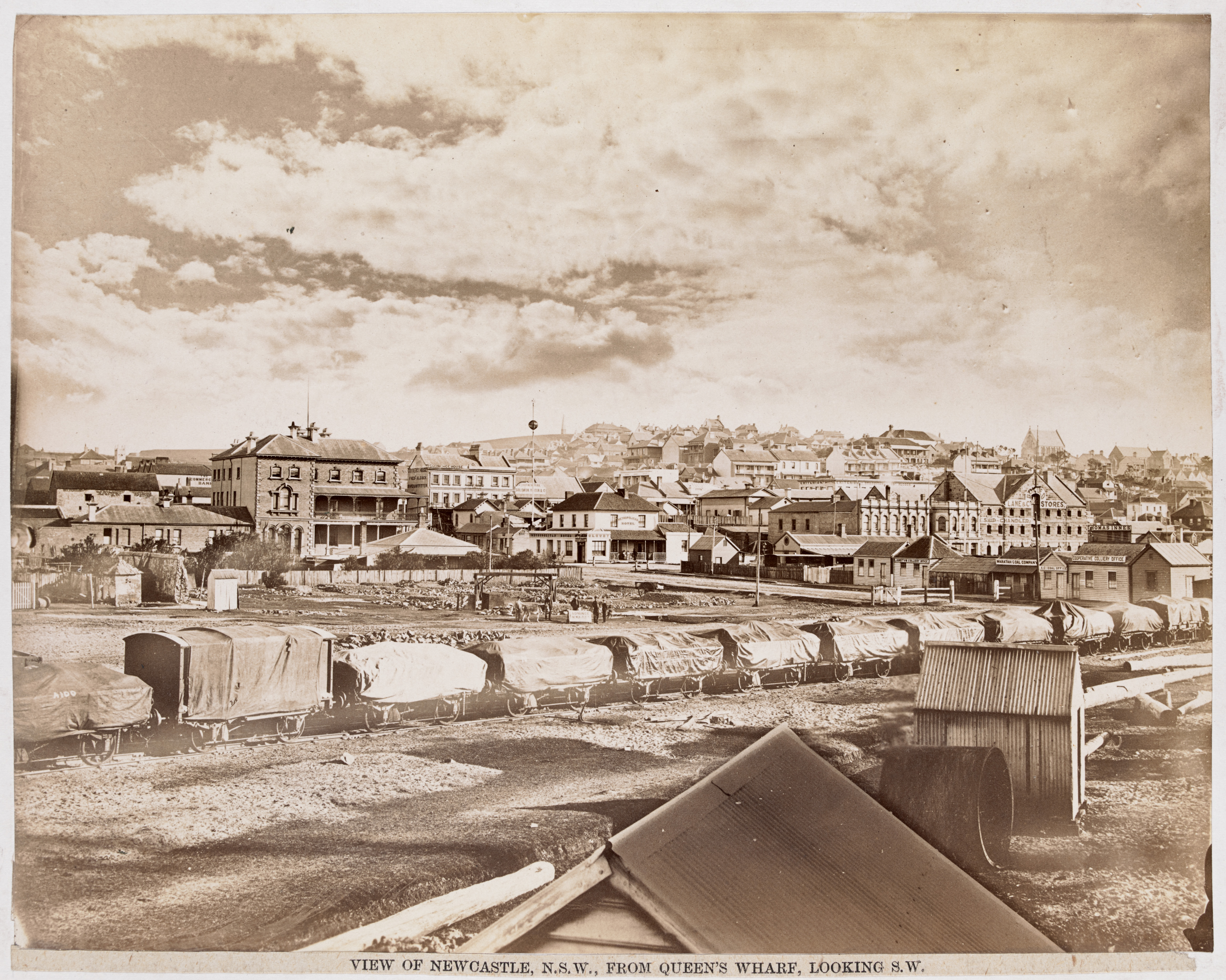 View of Newcastle from Queens Wharf Looking S.W. (H141643a - Courtesy of the State Library of Victoria)