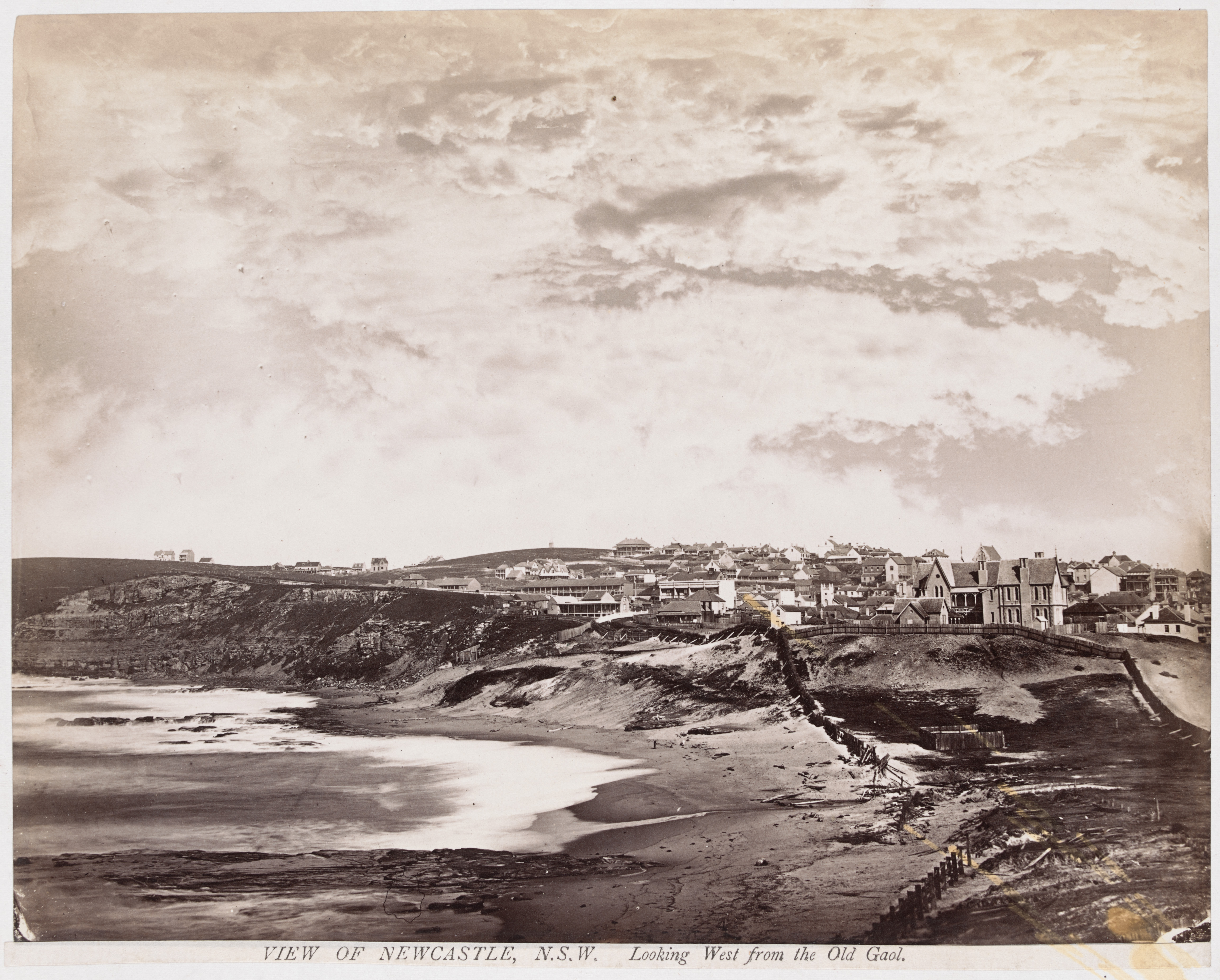 View of Newcastle Looking West from the Old Gaol (Courtesy of the State Library of Victoria)
