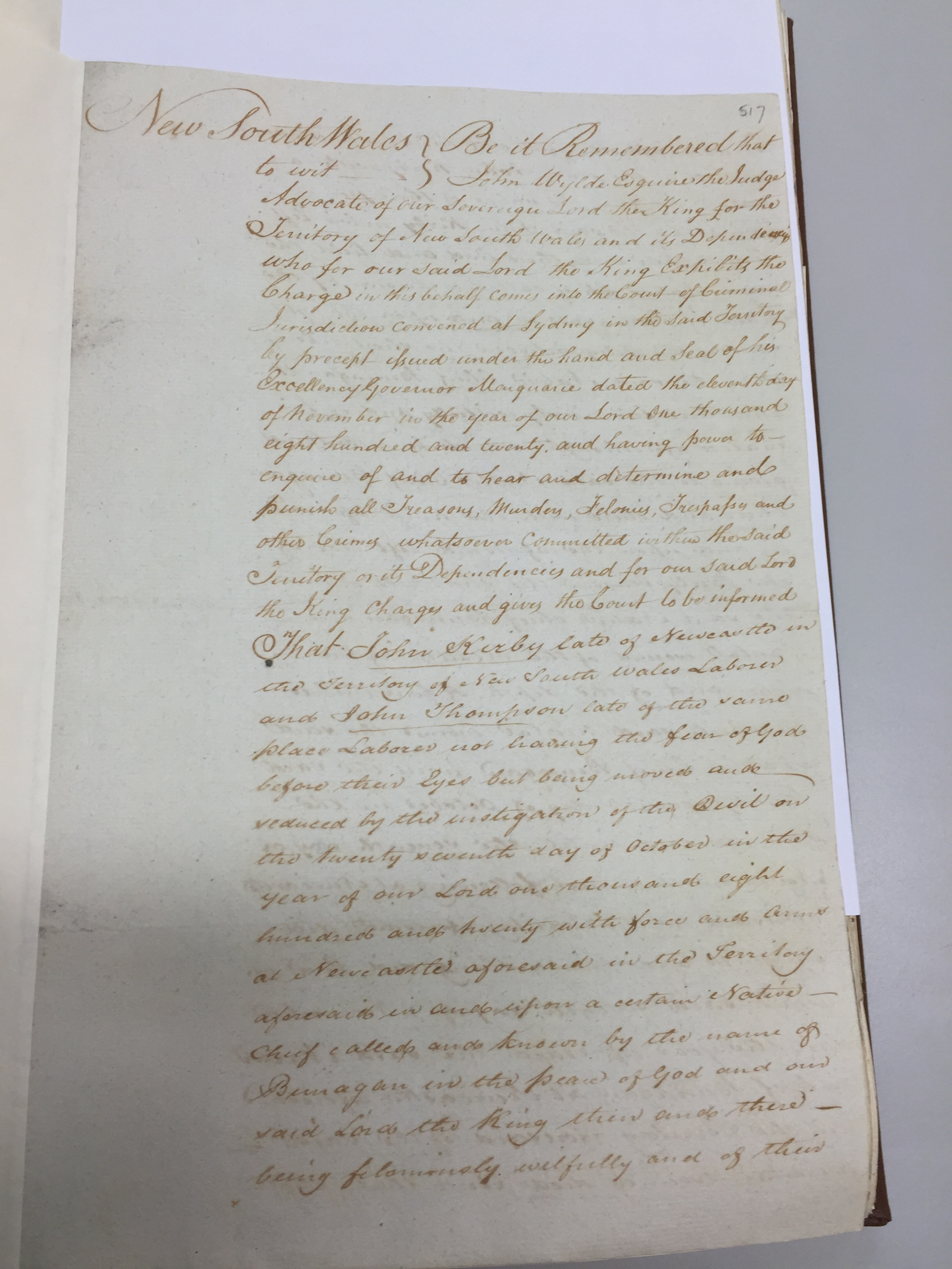 SZ792 p.517 (Image Credit: Fiona Sullivan, State Records NSW)