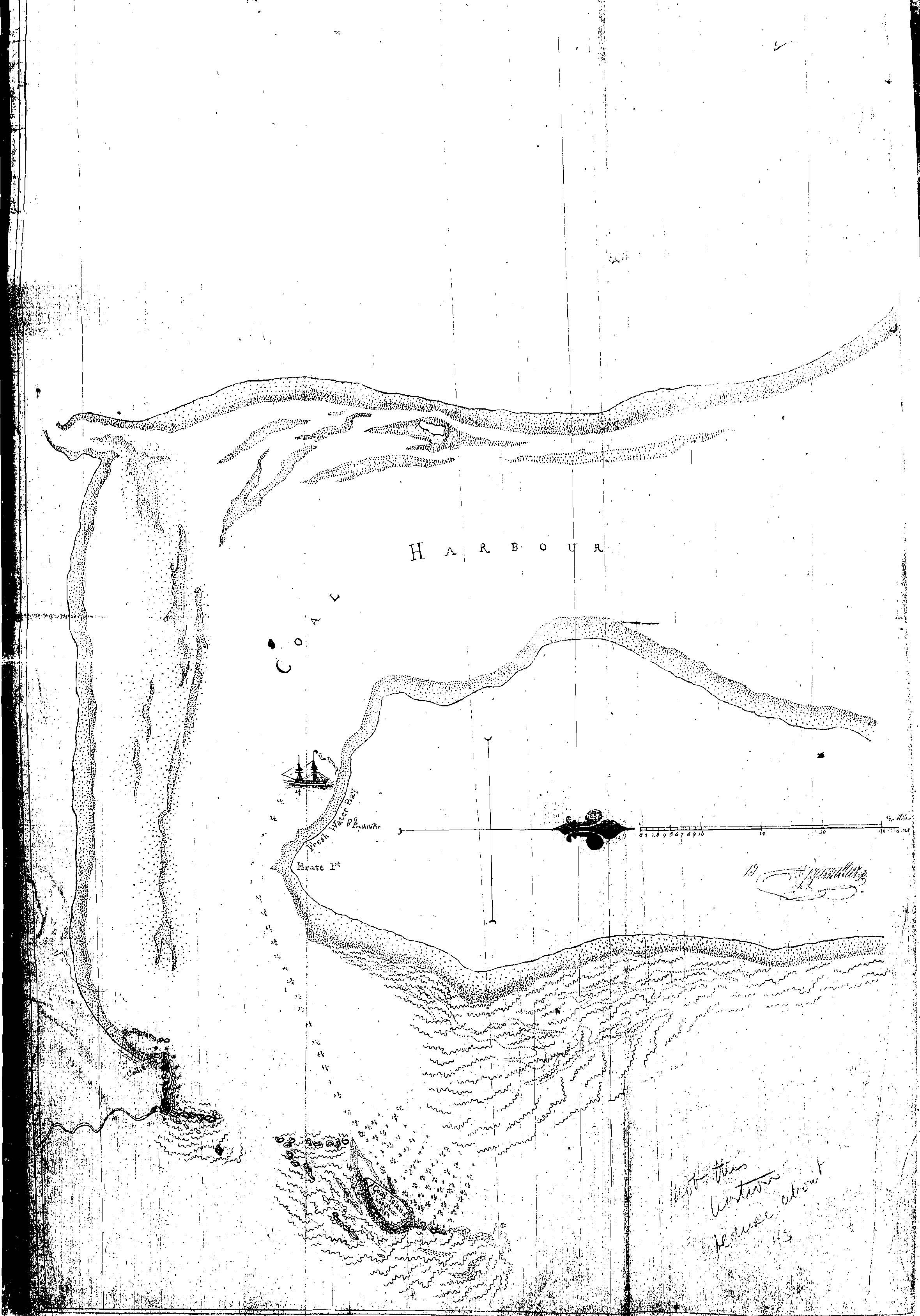 Barrallier Map located by Mr Doug Lithgow in 2006 on Mitchell Library Microcard, BT36 Image 0072.