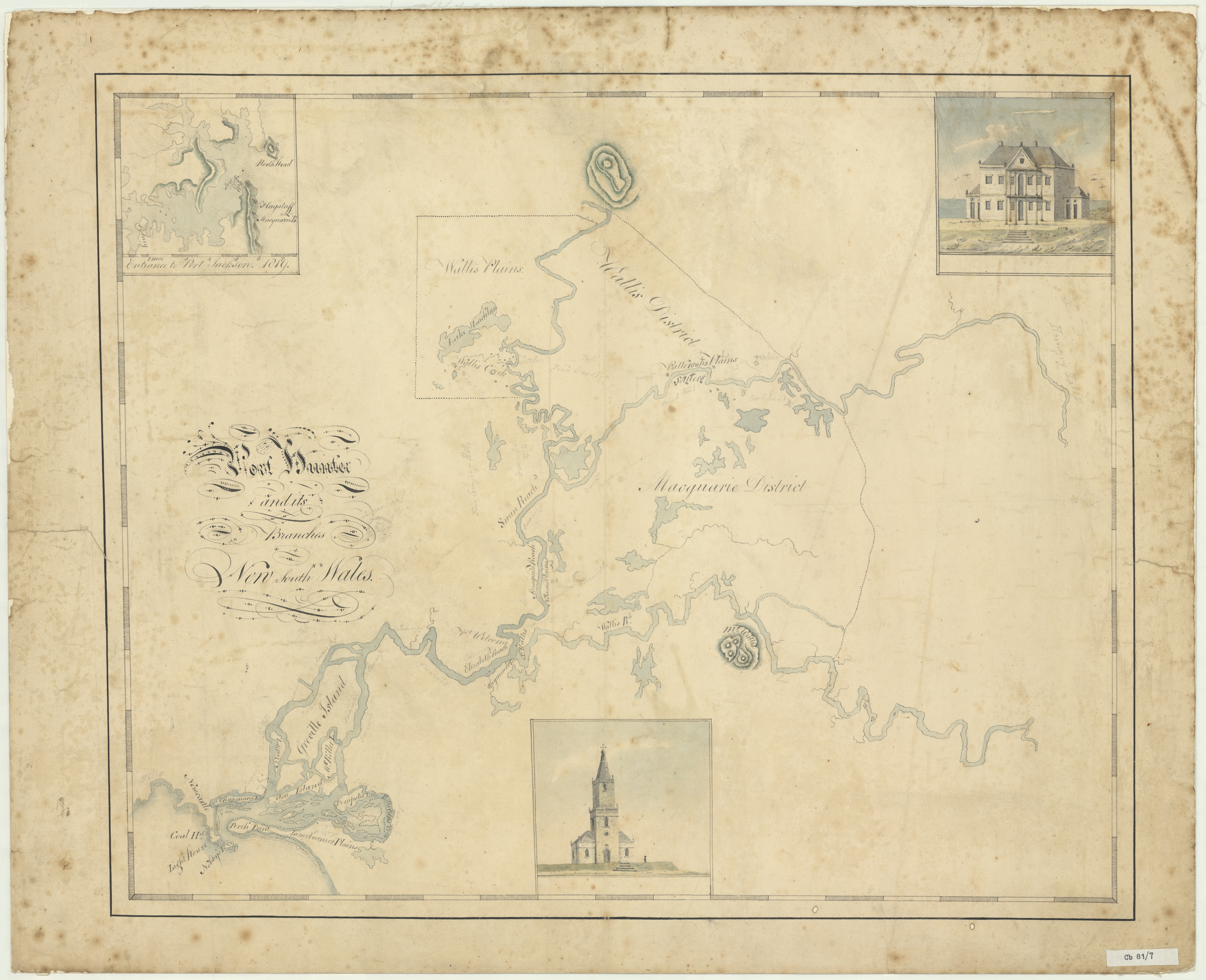 Port Hunter and its Branches, 1819. (Courtesy of the State Library of NSW)