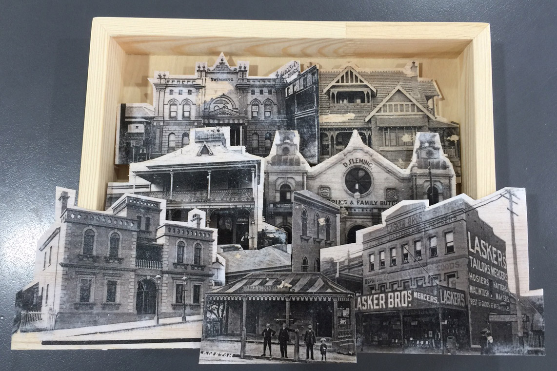 Artwork created by the staff of Eckersleys from our Snowball glass negatives at the UON