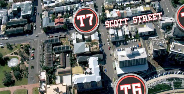 T6 to T7 down Zaara Street