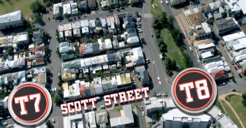 T7 to T8 Along Scott Street