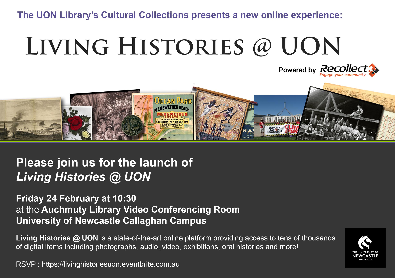 Living Histories @ UON Invite