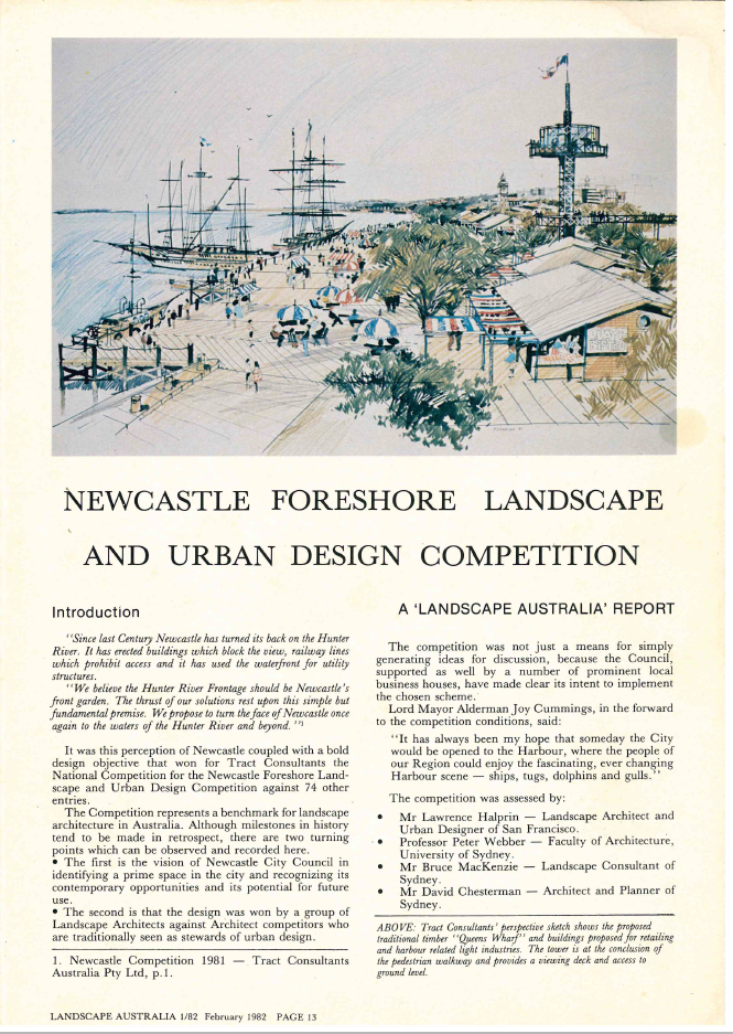 Newcastle Foreshore Landscape and Urban Design Competition 1