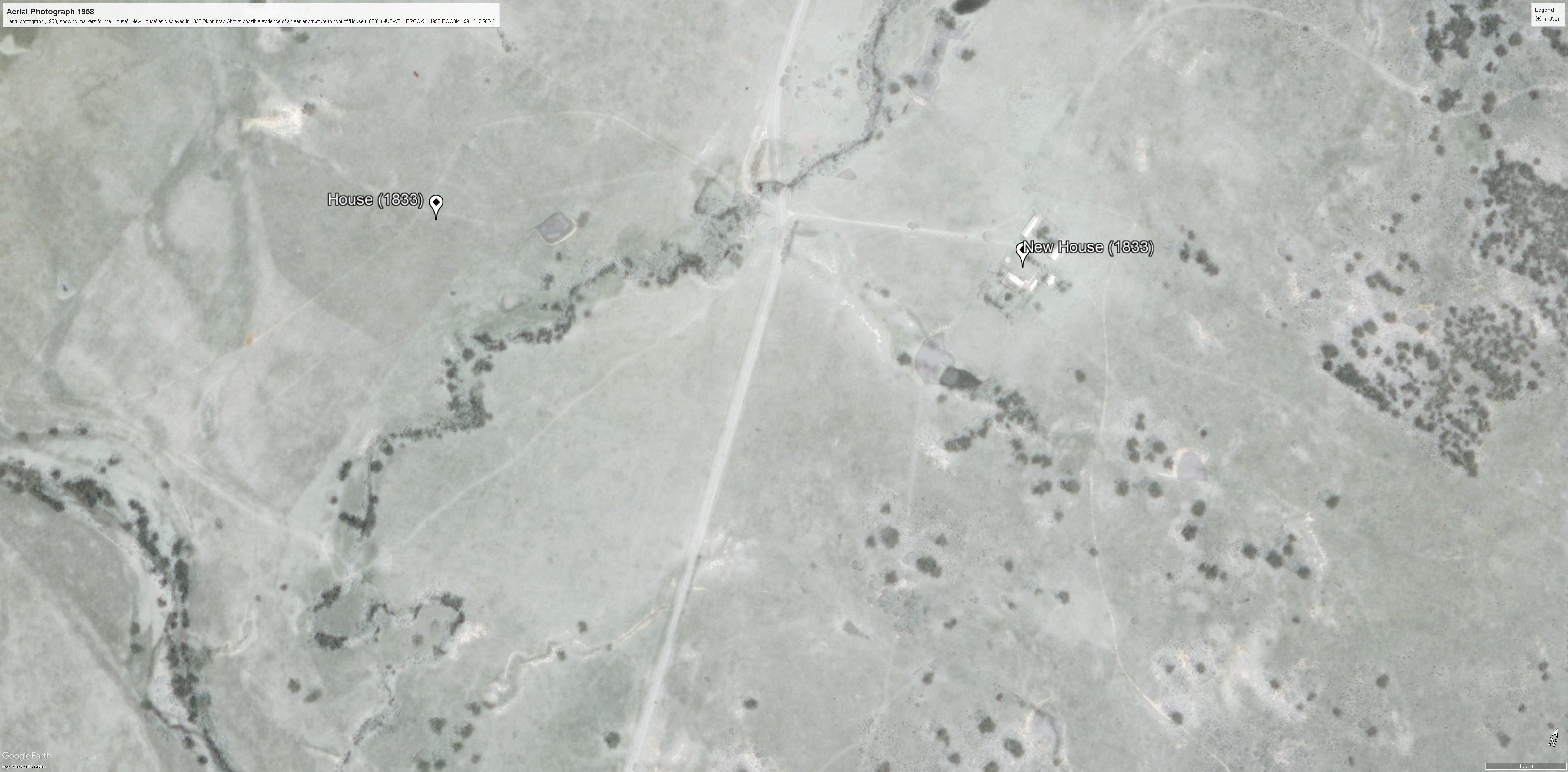 Aerial photo 1958 (MUSWELLBROOK-11-1958-R003-1594-217-5034 )- evidence earlier house