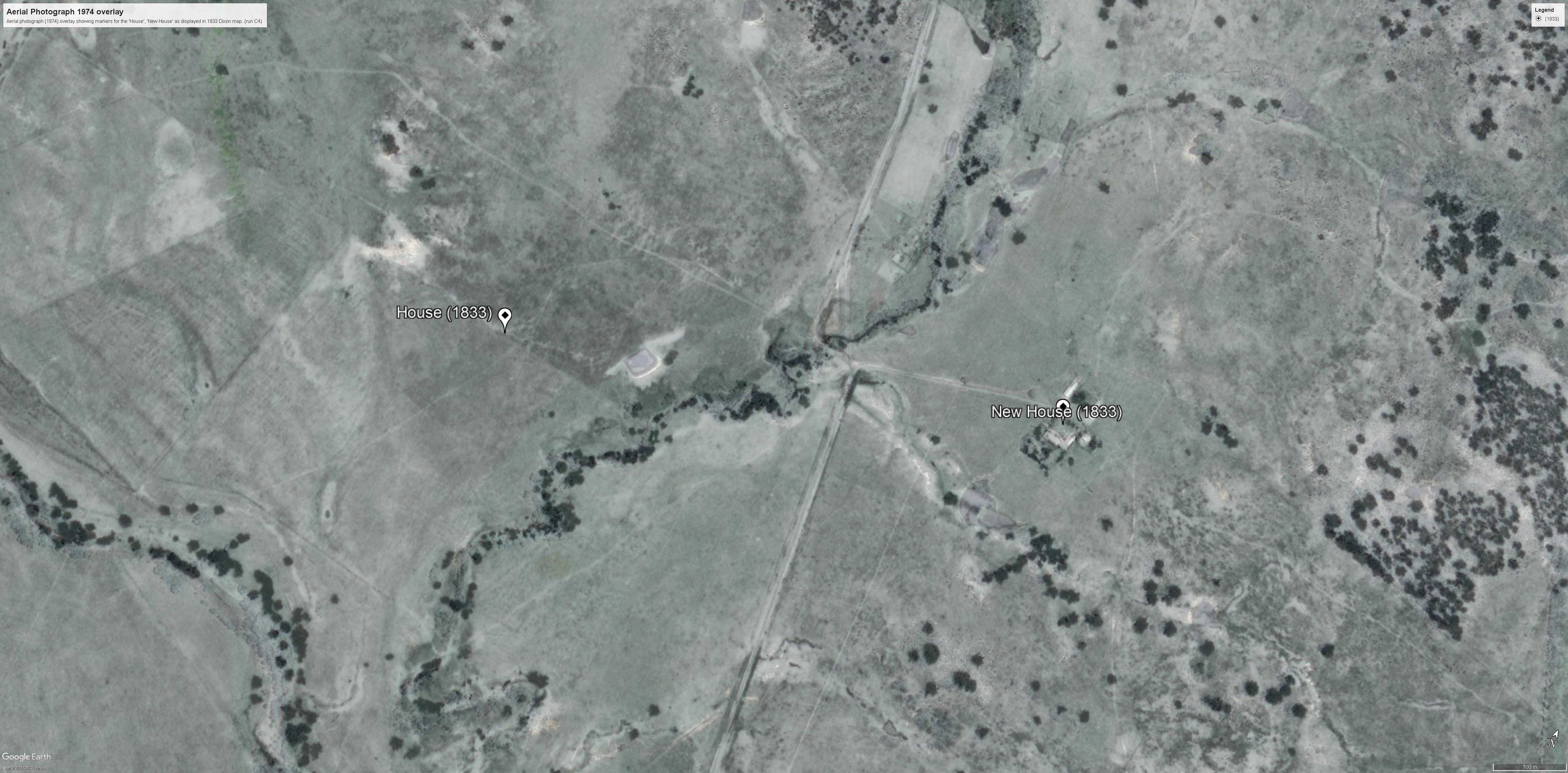 Aerial photo 1974 overlay (run C4)