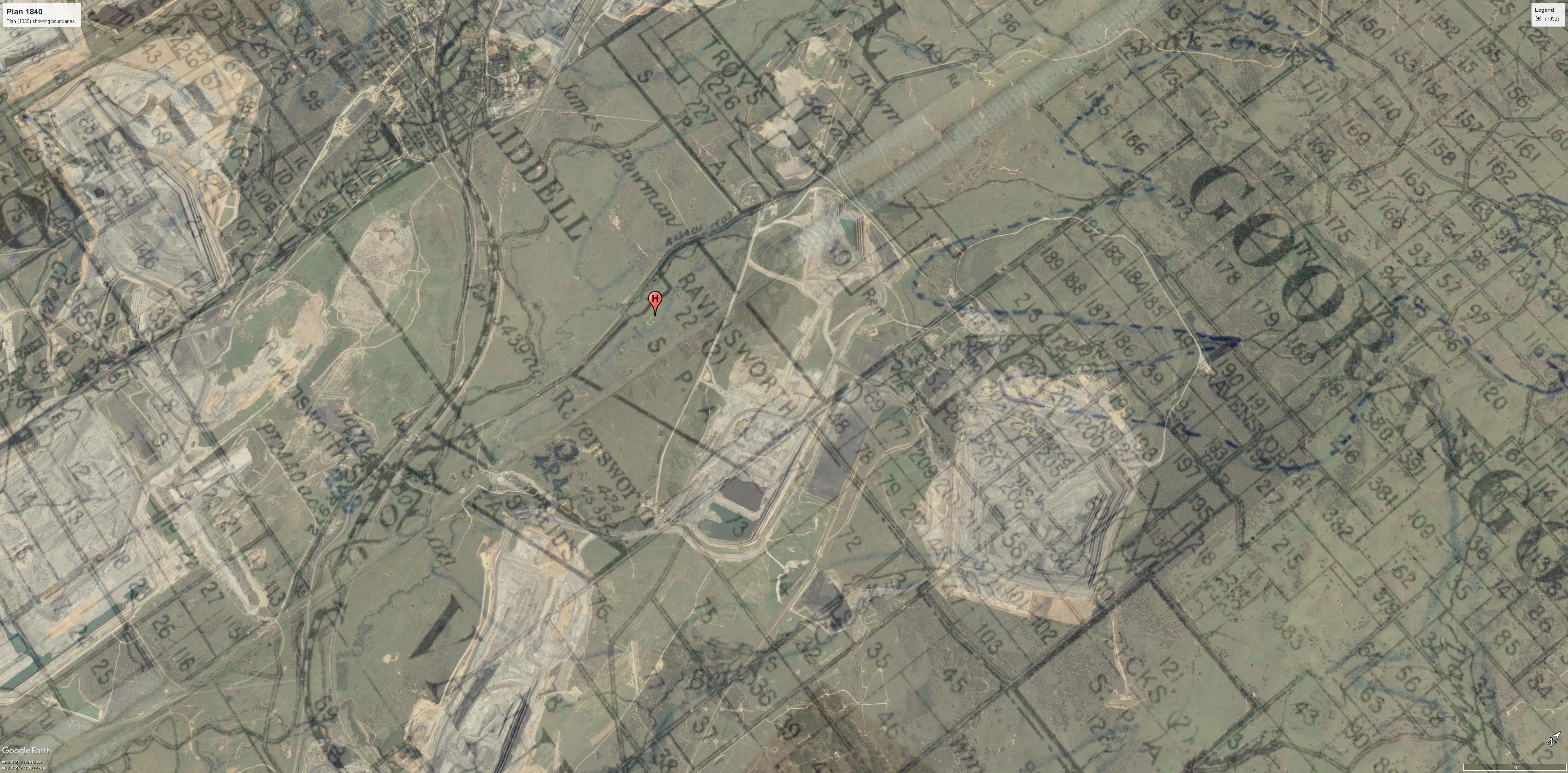 Ravensworth 1925- general location of Ravensworth homestead