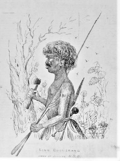 Portrait of King Boomerang, chief of Dungog, New South Wales