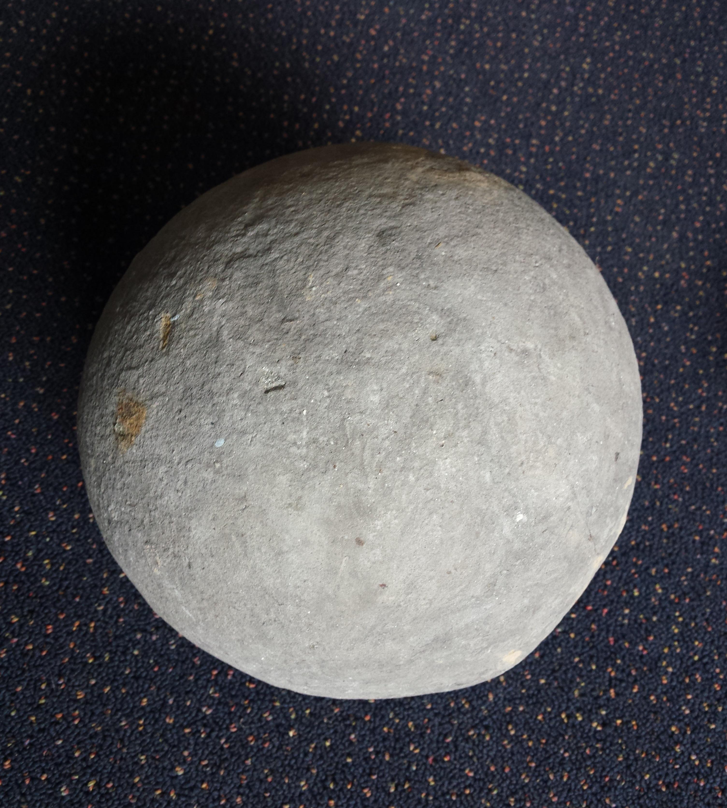 Round balls found on the barrington