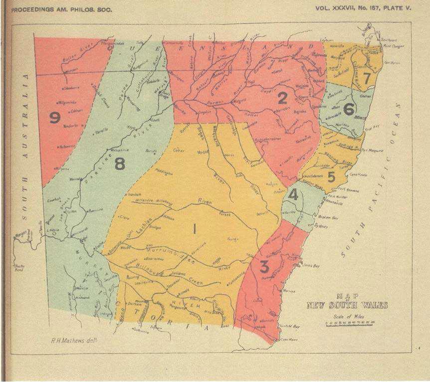 RH Mathews map
