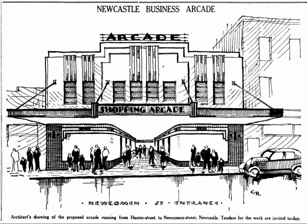 Architect's drawing of City Arcade