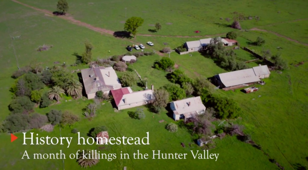 Screenshot from Video on History Homestead - Ravensworth in the Hunter Valley