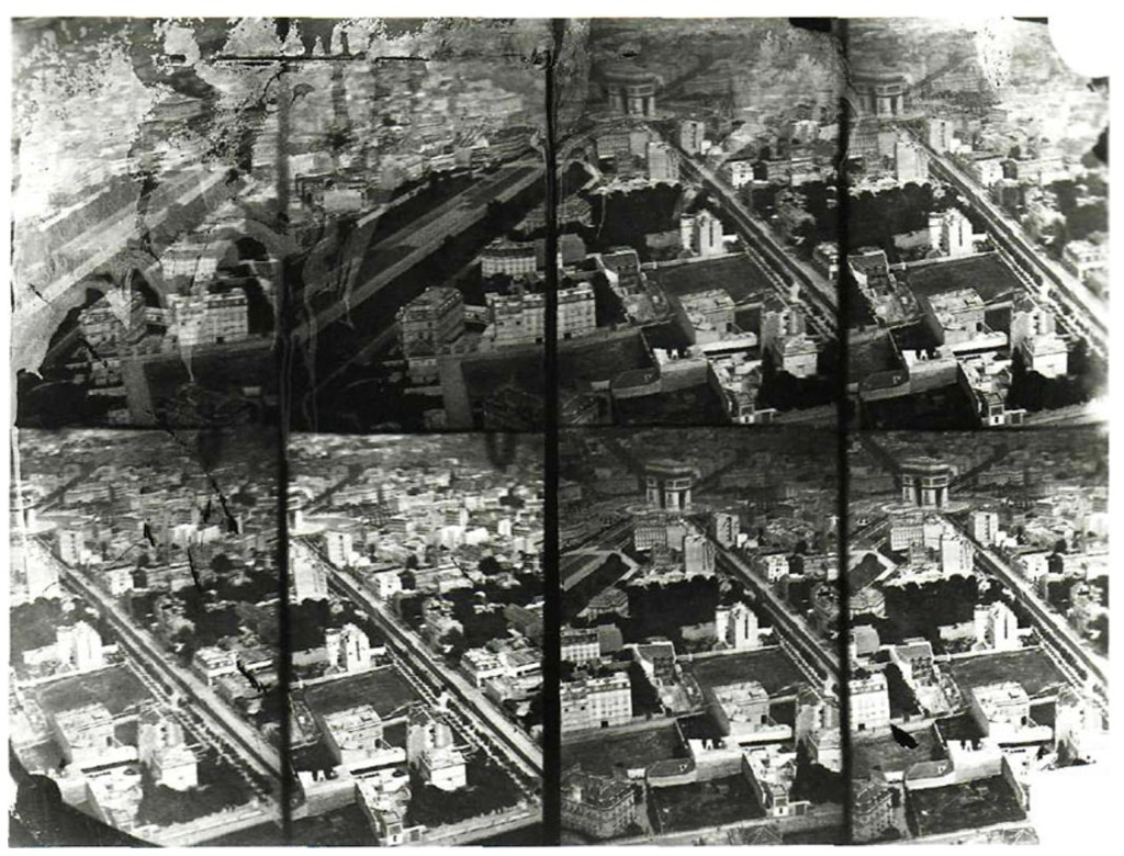 """The first aerial photographs of Paris by """"Nadar"""""""