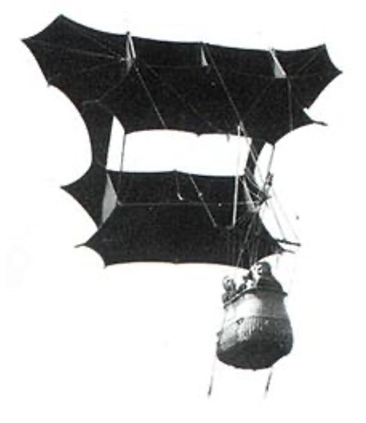 A photograph of Samuel Francis Cody's 'Man-lifter War Kite' (1901).